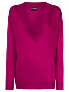 Tom Ford deep v-neck jumper - PINK