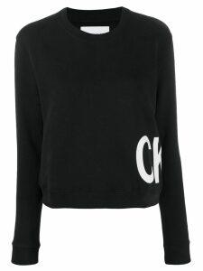 Calvin Klein Jeans contrasting logo print sweatshirt - Black