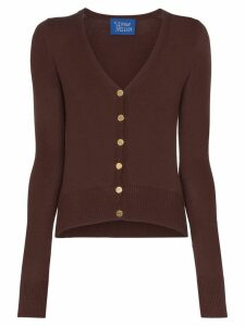 Simon Miller V-neck fitted cardigan - Brown