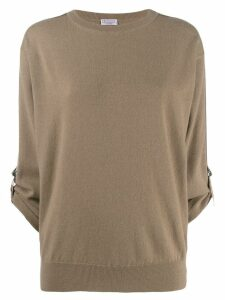 Brunello Cucinelli buckle detail jumper - NEUTRALS