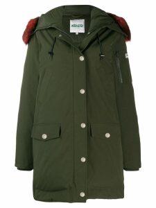 Kenzo faux fur hooded coat - Green