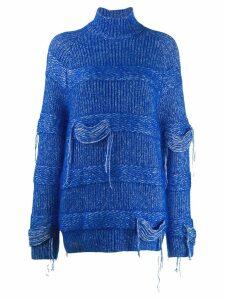 MRZ distressed chunky knit sweater - Blue