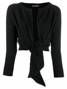 Dolce & Gabbana tied front cardigan - Black
