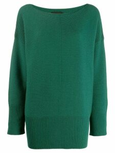Roberto Collina ribbed knitted jumper - Green