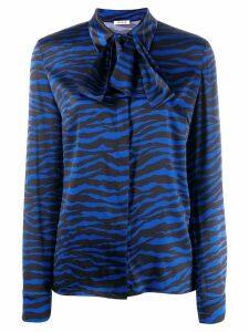 P.A.R.O.S.H. zebra print shirt - Blue