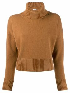 P.A.R.O.S.H. roll neck jumper - Brown