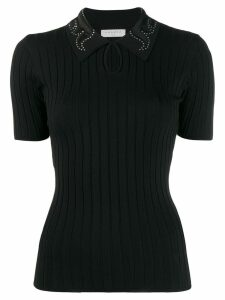 Sandro Paris Tims knitted top - Black