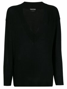 Tom Ford deep v-neck jumper - Black