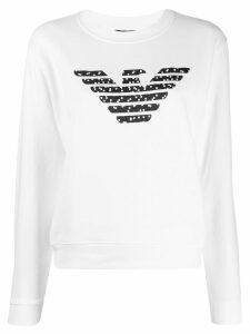 Emporio Armani logo dot sweatshirt - White