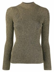 Sandro Paris Shinny jumper - Gold