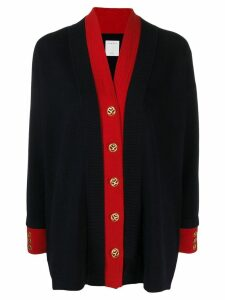 Sandro Paris two-tone cardigan - Blue