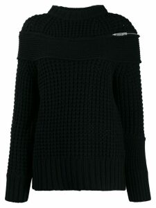 Sacai deconstructed knitted jumper - Black
