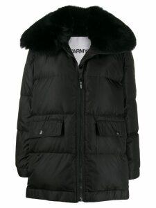 Yves Salomon Army oversized padded coat - Black