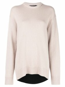 Derek Lam Oversized Contrast Back Cashmere Sweater - Brown