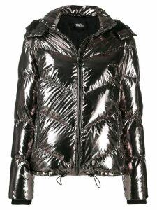 Karl Lagerfeld metallic puffer jacket