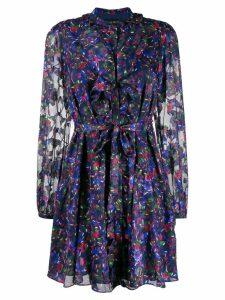 Saloni floral day dress - Blue