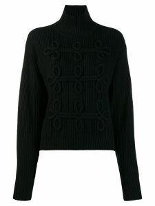 Karl Lagerfeld soutache detail jumper - Black