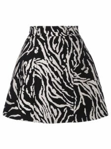 Proenza Schouler Zebra Cotton Jacquard Skirt - Black