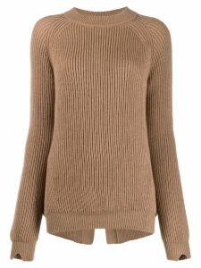 Stefano Mortari ribbed knit sweater - NEUTRALS
