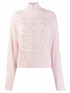 Karl Lagerfeld soutache detail jumper - PINK