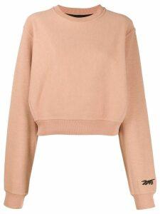 Reebok x Victoria Beckham cropped sweatshirt - NEUTRALS