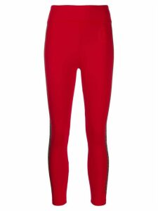 Fendi FF logo leggings - Red