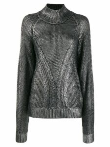 Karl Lagerfeld coated jumper - Metallic
