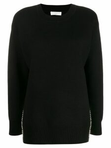 Sandro Paris faux-pearl trim jumper - Black