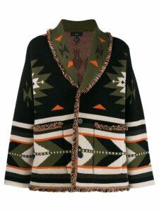 Alanui patterned cardi-coat - Green