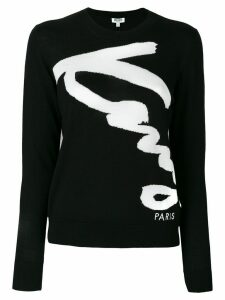 Kenzo embroidered sweater - Black