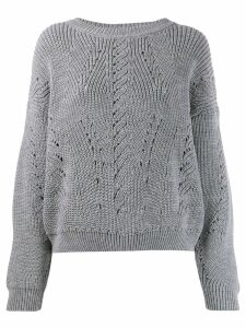 Alberta Ferretti cable knit sweater - Grey