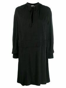 Calvin Klein tie neck dress - Black
