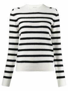 Saint Laurent stripe knitted jumper - White