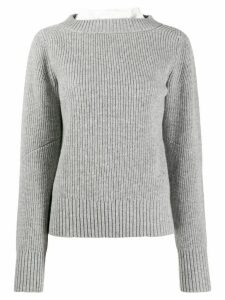 Sacai two panel sweater - Grey
