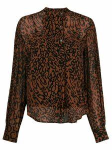 Calvin Klein leopard print shirt - Brown