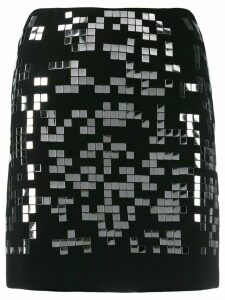 Pinko Mirror patch mini skirt - Black