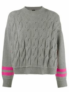 Pinko twist knit jumper - Grey