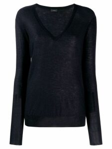 Joseph cashmere v-neck jumper - Blue