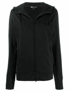Y-3 tonal logo print hoodie - Black