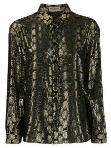 Saint Laurent metallic dots shirt - Black