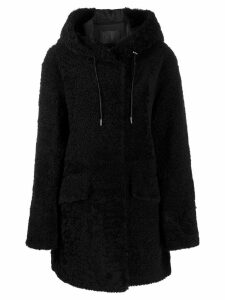 Drome hooded coat - Black