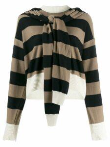 Sonia Rykiel layered striped sweater - Black