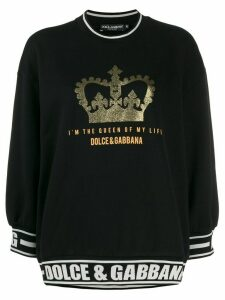 Dolce & Gabbana quote short three-quarter sleeved sweater - Black