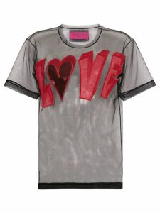 Viktor & Rolf love logo mesh T-shirt - Multicolour
