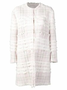 Thom Browne Bow Embroidery Cardigan Overcoat - Pink