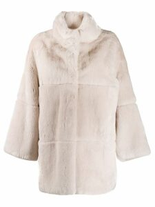S.W.O.R.D 6.6.44 quilted button-up coat - Pink