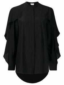 Alexander McQueen frilled sleeves shirt - Black