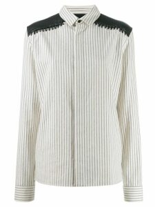 Haider Ackermann long sleeve striped shirt - White