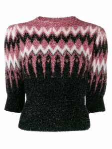 Laneus chevron intarsia knitted top - PINK
