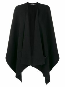 Philo-Sofie fine knit poncho cardigan - Black